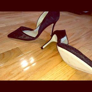 Black Lace BCBG stilettos size 9 US 💕